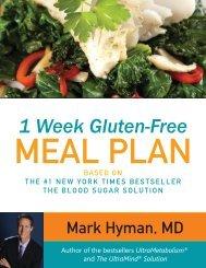 1 Week Gluten-Free MEAL PLAN - Dr. Mark Hyman