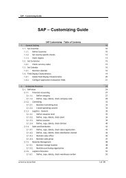 SAP – Customizing Guide - DOC SERVE