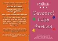 Carousel Kids Parties - Sleepwell Hotels