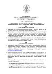 Harmonogram rejestracji na zajęcia - Wydział Prawa i Administracji ...