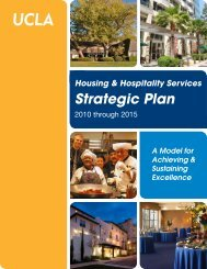 Strategic Plan - UCLA - Housing