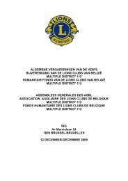 PAGES JAUNES - Lions Clubs International - MD 112 Belgium