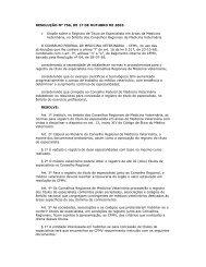 RESOLUÇÃO Nº 756, DE 17 DE OUTUBRO DE 2003 ... - CRMV-PR