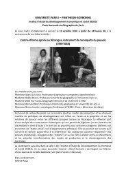 UNIVERSITÉ PARIS I – PANTHEON-SORBONNE Contre-réforme ...