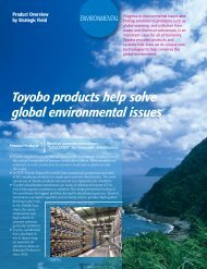 2010 Annual Report: Product Overview by Strategic Field ... - Toyobo