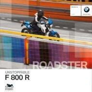 Katalog F 800 R - BMW Motorrad in Berlin von Riller & Schnauck