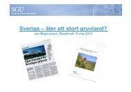 Sverige – åter ett stort gruvland? - Jan Magnusson ... - Bergforsk