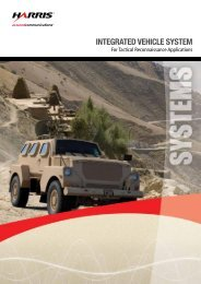 Vehicle Systems for Reconnaisance Applications - Harris Corporation