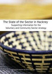 For more background information on the sector read ... - Hackney CVS