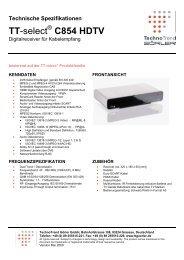 Datenblatt (PDF) - Technotrend GÖRLER