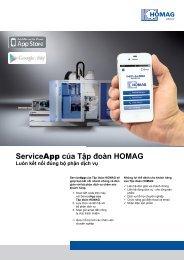 ServiceApp của Tập đoàn HOMAG - HOMAG Group