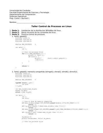 Práctica [PDF] - Universidad de Carabobo, FACYT - computacion