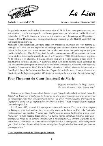 Le Lien n° 78 - Octobre - Novembre - Décembre ... - La Porte Latine