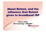 About Botnet, and the influence that Botnet gives to broadband ISP