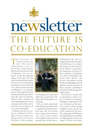 CO-EDUCATION THE FUTURE IS - Jules Akel