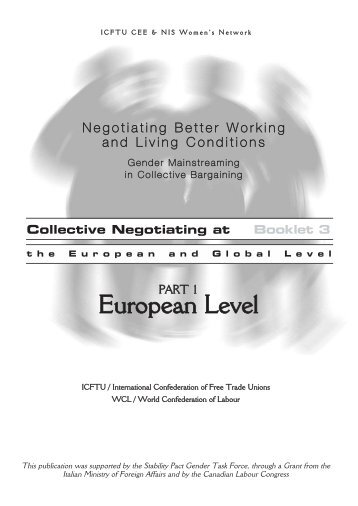 Collective Bargaining at the European and global ... - Training.itcilo.it