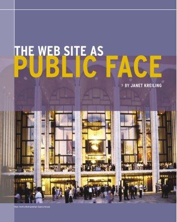 the web site as public face - TAG Online