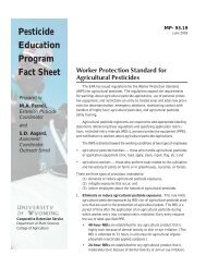 Pesticide Education Program Fact Sheet