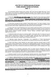 kamu arazisi tahsis duyurusu - Kültür ve Turizm Bakanlığı
