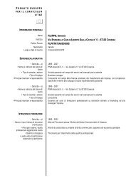 Curriculum Vitae e Pubblicazioni