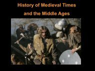 History of Medieval Times and the Middle Ages - DMHScommunity