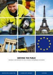 SERVING THE PUBLIC - Fédération des Epl