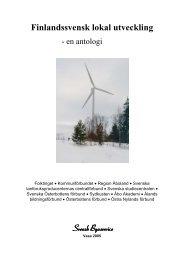 Finlandssvensk lokal utveckling – en antologi.pdf - Svensk Byaservice