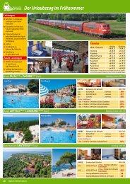 EXPRESS Der Urlaubszug im Frühsommer - I.D. Riva Tours GmbH