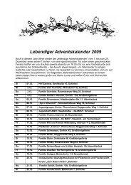 Lebendiger Adventskalender 2009