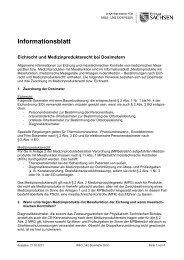 Informationsblatt - Forum Röntgenverordnung