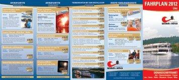 FAHRPLAN 2012 - Donauschiffahrt Wurm + Köck