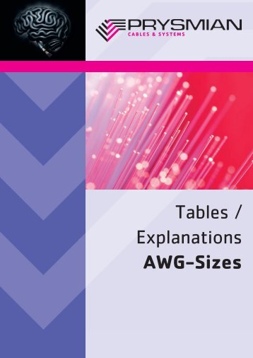 Tables / Explanations AWG-Sizes - Prysmian Group