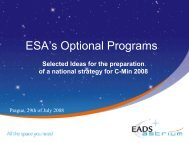 ESA's Optional Programs - electromobility 2011