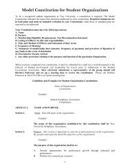 Model Constitution For Student Organizations - Troy University