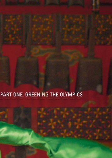 PART ONE: GREENING THE OLYMPICS - UNEP