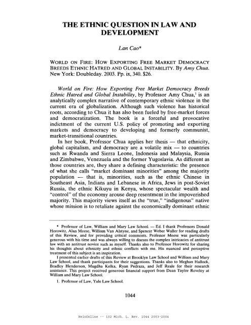 HeinOnline -- 102 Mich. L. Rev. 1044 2003-2004