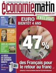 47 % des Français pour le retour au franc - Watine Taffin