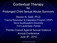 Contextual Therapy for Prolonged Child Sexual Abuse Survivors