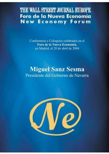 Miguel Sanz Sesma - Nueva Economía Fórum