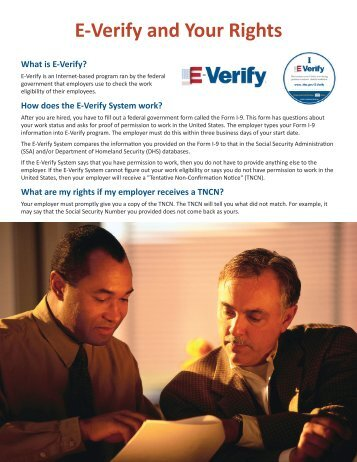 E-Verify and Your Rights - SC Appleseed Legal Justice Center