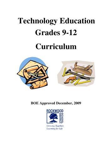 Technology Education Grades 9-12 Curriculum - Rockwood School ...