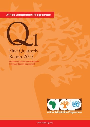 AAP First Quarterly Report 2012.pdf - Africa Adaptation Programme
