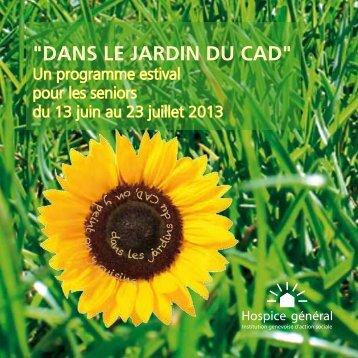 """""""Dans le jarDin Du CaD"""""""