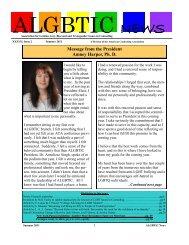 Summer 2011 Newsletter - ALGBTIC
