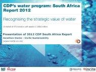 CDPSA_2012_Water_Launch John Hanks Incite Sustainability.pdf ...