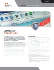 SYMMETRY™ buSiNESS v7.0 - AMAG
