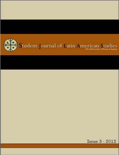 Issue Three - Student Journal of Latin American Studies