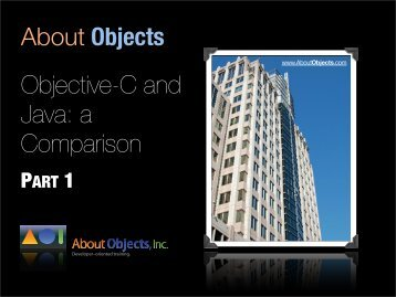 Objective-C and Java Slides - About Objects