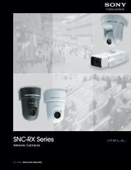 SNC-RX Series - Sony