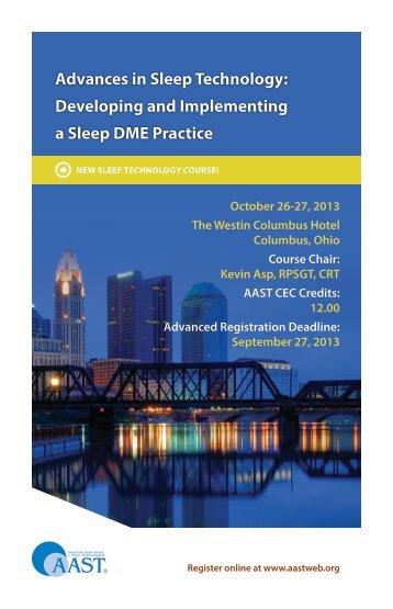 course brochure - American Association of Sleep Technologists